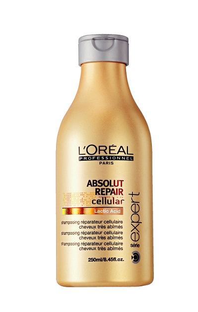 Hạng mục dầu gội đầu -  Ngôi sao của năm: L'Oréal Professionnelabsolut Repair<br/>Chứa acid lactic dành cho những mái tóc đặc biệt thiếu sức sống nhờ khả năng chữa trị tóc hư tổn tuyệt vời.