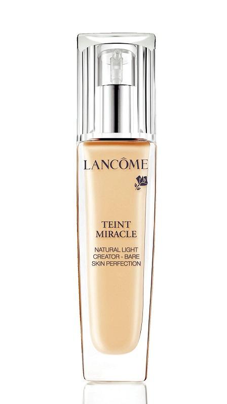 Hạng mục phấn nền - Bạn đọc yêu thích nhất: Lancôme Teint Miracle<br/>Phấn nền dạng lỏng che khuyết điểm, làm ẩm và sáng da. Công thức thân thiện và thích hợp cho cả da nhạy cảm.