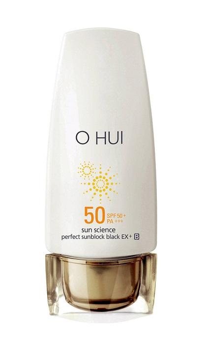 Hạng mục kem chống nắng - Bạn đọc yêu thích nhất: O Hui Sun Science Perfect Sunblock Black Ex SPF50 PA+++<br/>Cải thiện sắc da cho mọi loại da và bảovệ da khỏi tia tử ngoại liên tục suốt nhiều giờ với thành phần Pycnogenol và sắc tố Clariju.