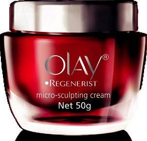 Hạng mục chống lão hóa - Olay Regenerist Micro-Sculpting Cream<br/>Kem chống lão hóa chứa phức hợp Aminopeptide giúp phục hồi và làm săn chắc rõ rệt những vùng da dễ bị chảy sệ trên khuôn mặt.