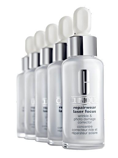 4. Innovative Star - Clinique Repairwear Laser Focus<br/>Tinh chất chống lão hóa tập trung được đặc chế để hoạt động cả ngày lẫn đêm nhằm giảm nếp nhăn và các rãnh sâu. Ba enzyme phục hồi giúp tái tạo các tổn thương do nắng. Các chuỗi axít-amin thúc đẩy sự sản sinh và duy trì collagen tự nhiên.(2.300.000 VNĐ)