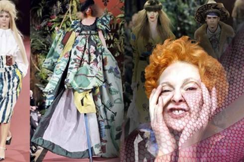 7. Vivienne Westwood (1941)<br/>Chính bà là người đưa cảm hứng nhạc punk vào thời trang. Bà đã đem lại làn sóng hoàn toàn mới, nếu không có bà, hẳn những chiếc áo sơ mi đính gai, những chiếc quần sọc, những đôi giày cao gót sẽ không sang trọng như vậy.