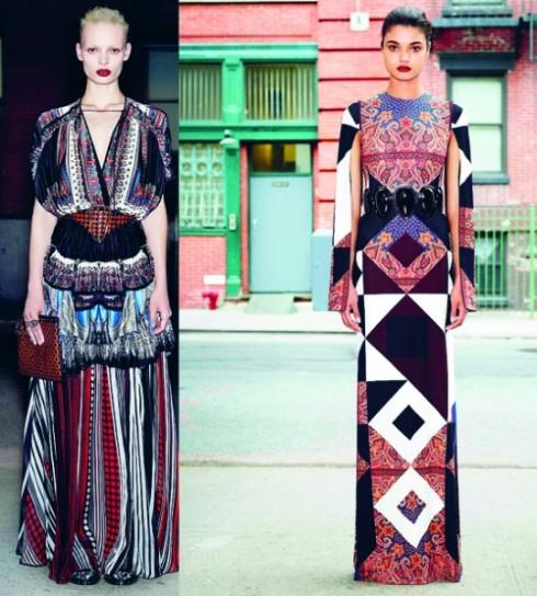 Phong cách bohemian trên sàn diễn thời trang