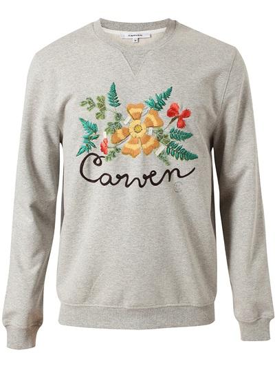 CARVEN - họa tiết thêu hoa, chất liệu cotton