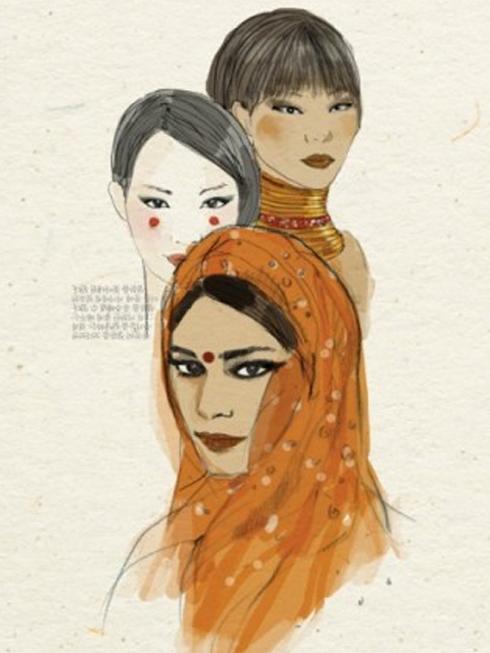 Những mỹ phẩm làm đẹp của phụ nữ châu Á