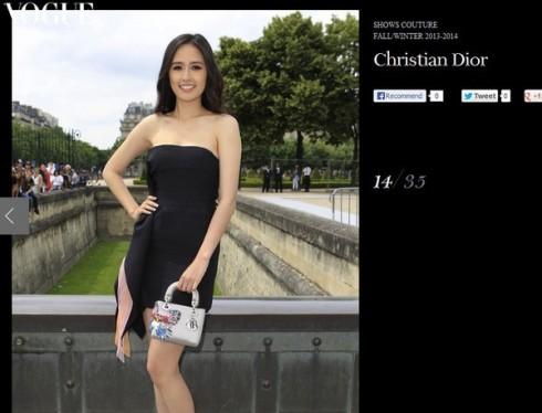 Cô xuất hiện trên Vogue - Pháp cùng một số ngôi sao Châu Á khác.