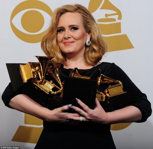 Adele và 6 giải Grammy danh giá.