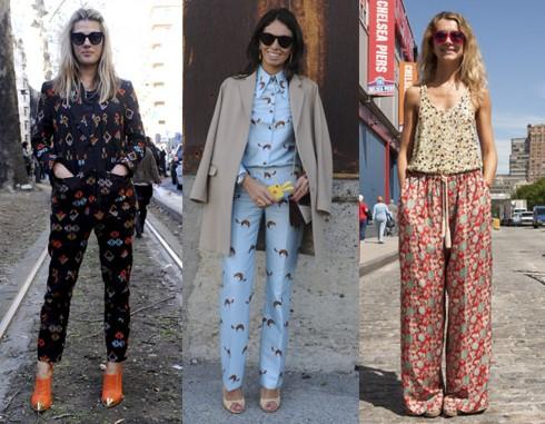 5. Cả bộ họa tiết <br/>Đừng ngần ngại kết hợp cả bộ vừa áo và quần vì đó là xu hướng nổi bật trong thời trang đường phố gần đây. Bạn có thể mặc cùng tông thậm chí khác tông họa tiết!