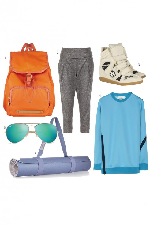 Thứ Bảy: Thể thao năng động<br/>1. Marc by Marc Jacobs 2. Alexander Wang 3. Isabel Marant 4. 3.1 Phillip Lim 5. Adidas by Stella McCartney 6. Ray Ban