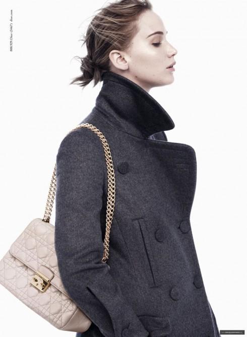 Jennifer Lawrence trong những hình ảnh quảng bá mới của Dior Thu Đông 2013