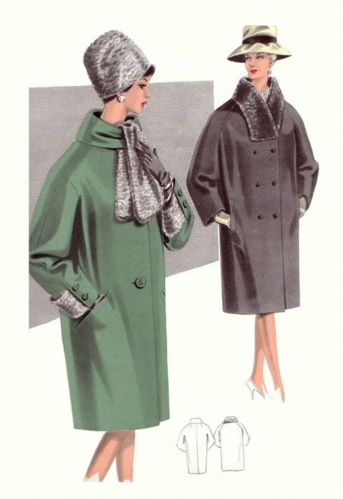 Thiết kế áo khoác thập niên 1960