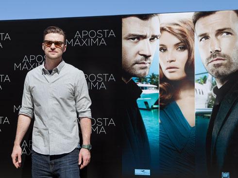 Justin Timberlake trong buổi quáng bá phim Runner Runner tại Rio De Jainero