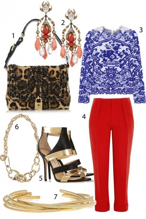 Chủ nhật: Nổi bật với cặp màu tương phản <br /> 1.Dolce &amp; Gabbana 2. Gucci 3. Valentino 4. Rouland Mouret 5. Jimmy Choo 6. Lanvin 7. YSL