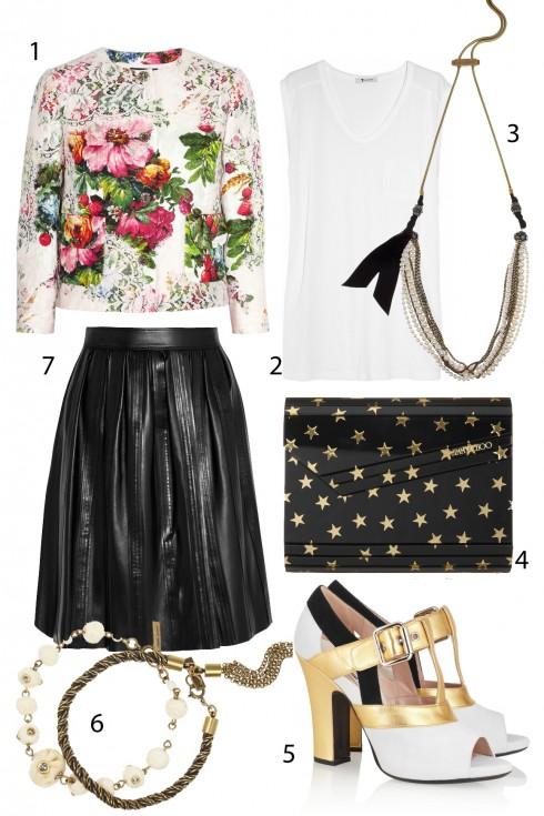 Thứ sáu: Dịu dàng cùng chi tiết hoa <br /> 1.Dolce &amp; Gabbana 2. Alexander Wang 3. Lanvin 4. Jimmy Choo 5. Miu Miu 6. Isabel Marant 7. Burberry London