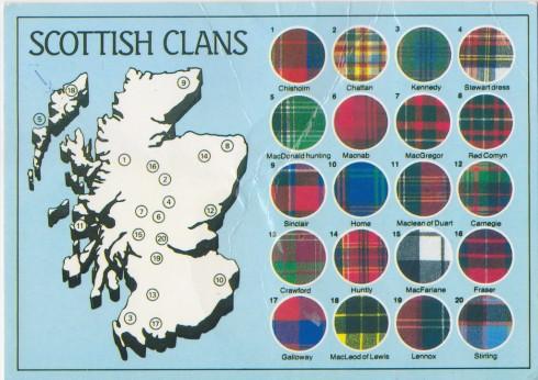 Mỗi gia tộc ở Scotland có kiểu tartan riêng đặc trưng