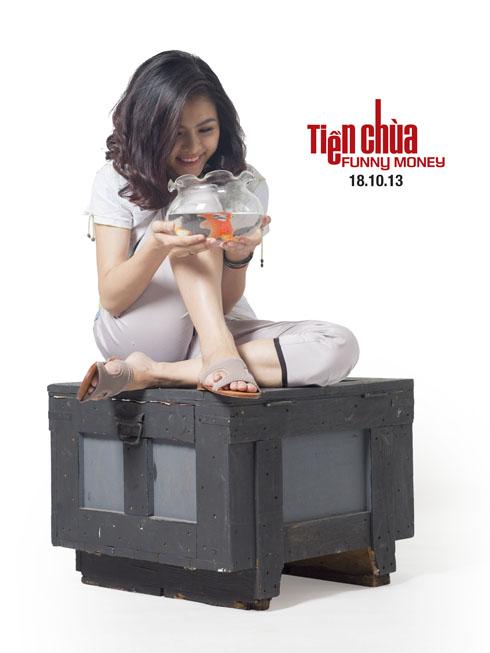 Vân Trang và tạo hình tinh nghịch trong vai diễn Quyên - phim
