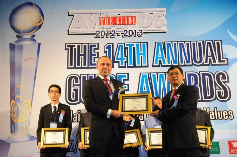 Mr. Bart Callens, Resident Manager recieved the Award 2