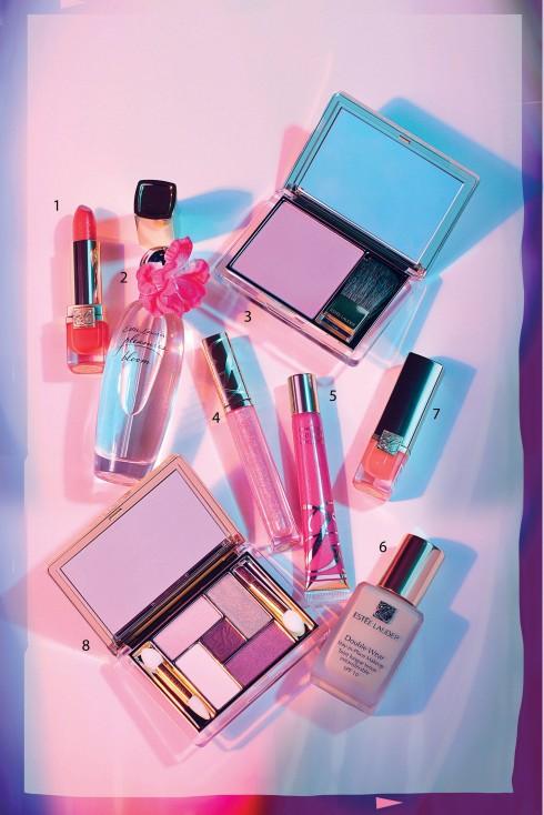 <br/>1&7 Son môi New Pure Color Crystal Lipstick 650.000 VNĐ  <br/>2. Nước hoa Pleasures Bloom EDP Spray 2.300.000 VNĐ/100 ml  <br/>3. Má hồng New Pure Color Blush 1.000.000 VNĐ  <br/>4. Son bóng Pure Color Gloss  <br/>5. Son bóng Pure Color High Gloss 600.000 VNĐ  <br/>6. Kem nền lâu trôi Double Wear Stay-In-Place Makeup SPF10/ PA++ 990.000 VNĐ  <br/>8. Bộ phấn mắt 5 màu Pure Color Five Color Eyeshadow Palette 1.300.000 VNĐ<br/><b>ESTÉE LAUDER</b> <br/>Nếu nói về dưỡng da có lẽ nhãn hiệu Mỹ này gắn liền với dưỡng ẩm và serum với công nghệ hiện đại nhất, kem chống nắng rất chất lượng. Về trang điểm, các sản phẩm nổi bật của Estée Lauder gồm có: Phấn nền (có cả những tone màu cho da sậm), che khuyết điểm, phấn, má hồng và phấn mắt. Son lâu trôi và son môi (ví dụ dòng Double Wear) hoàn toàn thuyết phục về chất lượng.