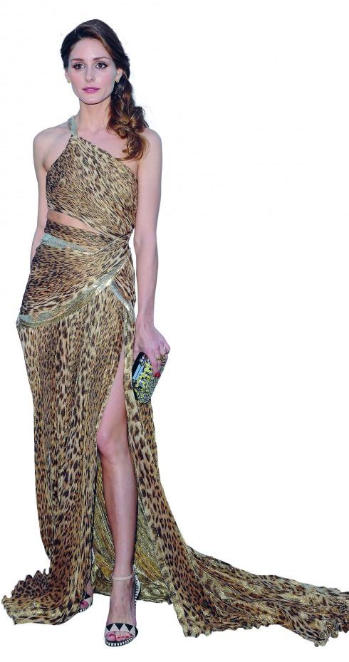 <b>9.</b> Tại LHP Cannes lần thứ 66,nữ diễn viên chọn chiếc váydạ hội in họa tiết da báo đượcthiết kế xẻ sườn và đùi khoe đôichân thẳng tắp, gợi cảm.