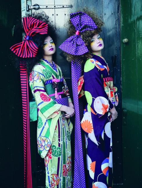 Một trong những tác phẩm của Ueda Mieko. Ảnh: Takuya Oamoto. Thiết kế Kimono: Mamechiyo.