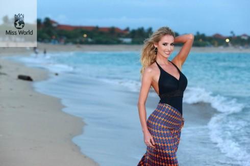 Hoa hậu Biển Sancler Frantz