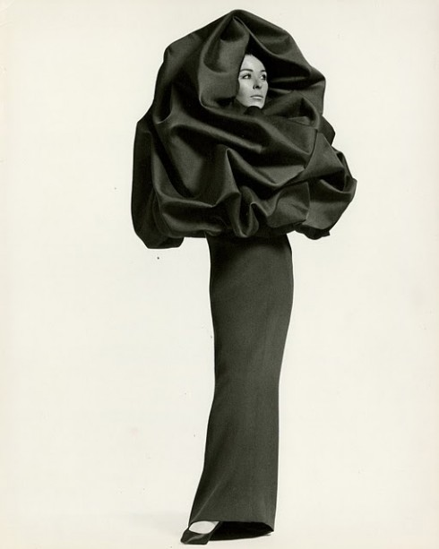 balenciaga chou dress winter 1968