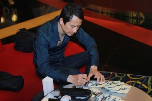 Anh Trần Anh Hùng tại buổi chiếu phim Rừng Nauy tại Việt Nam (Ảnh: YXINEFF)