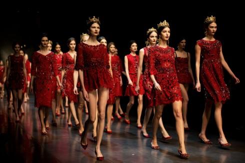 Phần kết show diễn thu đông 2013 của Dolce & Gabbana
