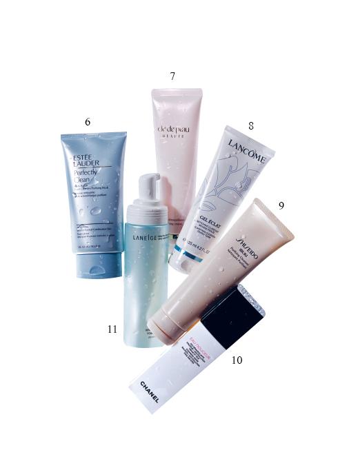 6. Sữa rửa mặt đa năng và mặt nạ làm sạch Estée Lauder 7. Kem rửa mặt Clé De Peau Beauté 8. Gel rửa mặt Lancôme 9. Kem rửa mặt Ibuki Shiseido 10. Rửa mặt dạng nước Chanel 11. Sữa rửa mặt làm trắng Laneige