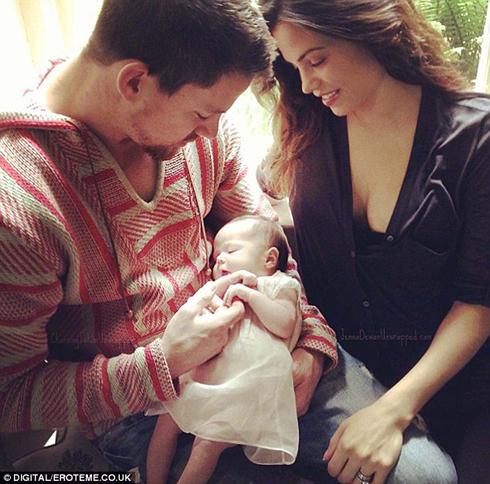 Với vợ Jenna Dewan-Tatum và con gái đầu lòng Everly