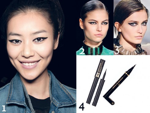 1.ANNA SUI - 2.Monique Lhuillier - 3.LANVIN - 4. Eyes Liner