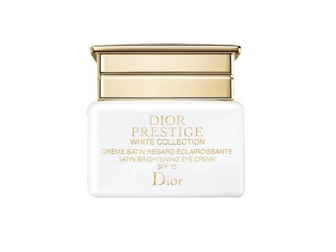 5. Stylish Star - Dior Prestige White Collection Satin Brightening Eye CremE<br/>Kem dưỡng làm sáng vùng da mắt và chống lão hóa với những chiết xuất: hoa hồng Granville giúp hạn chế kích ứng và phục hồi những tổn thương; hoa Kniphofia giúp dưỡng ẩm sâu; hoa mẫu đơn trắng Nhật Bản giúp làm sáng da.