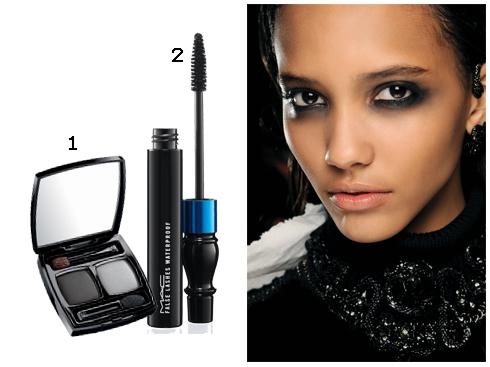 1.Phấn mắt 2 màu Chanel  2.Mascara MAC