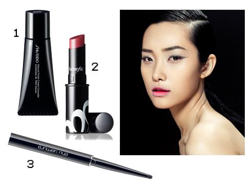 Sản phẩm gợi ý: 1.Kem che khuyết điểm Natural Finish Cream Concealer Shiseido 2.Son lì mềm mịn Benefit 3.Chì kẻ mắt Shu Uemura