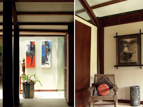 Ảnh trang bên: Mái hiên đặc thù cho kiến trúc Đông Dương, được sử dụng nhiều cho việc tiếp khách và thư giãn.