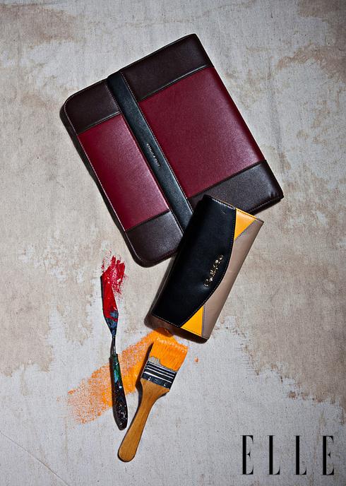 Túi da đựng iPad CHARLES & KEITH. Ví nhỏ cầm tay CARLO RINO.