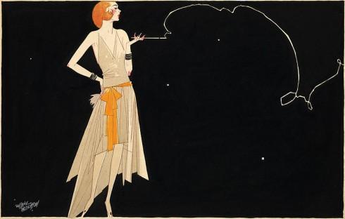 Ban đầu, phong cách này không được chấp nhận ở nhiều nơi bởi flapper chỉ được ưa chuộng bởi những phụ nữ thích trang điểm đậm, uống rượu, hút thuốc, thích phớt lờ các chuẩn mực xã hội. Bức tranh
