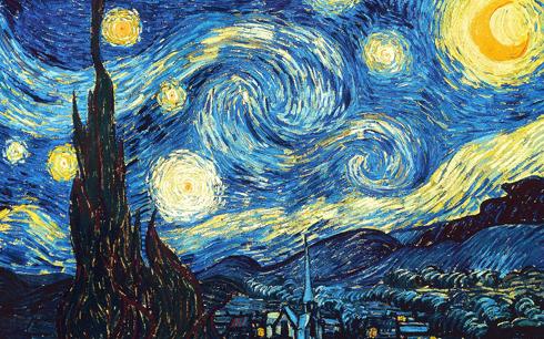 Bức tranh nổi tiếng Starry Night của Vincent van Gogh lột tả vẻ đẹp bầu trời đêm với ánh trăng huyền ảo dịch chuyển thành những vòng xoáy cuộn trong vòng quay vũ trụ cũng là nguồn cảm hứng nghệ thuật cho nhiều thiết kế đồng hồ cao cấp.