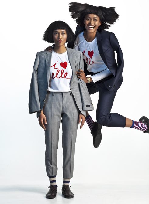 Hai phụ nữ trẻ, một nhà thiết kế, một người mẫu tuy chẳng phải họ hàng mà nhìn như hai chị em ruột. Sự mạnh mẽ trong tinh thần cầu tiến của họ đã tạo nên vẻ đẹp đầy tự tin, sự vui tươi của họ gợi nên niềm hy vọng. Diệu Anh và Lâm Thu Hằng đều là những người bạn thân thiết của ê-kíp ELLE và cũng là những người mang lại hơi thở mới đầy sức sống cho thời trang Việt.<br/>Suit Hugo Boss