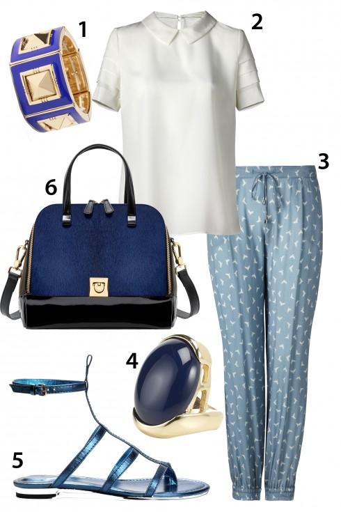 Chủ nhật: Quần pijama thoải mái và trang nhã<br>1.BANANA REPUBLIC 2.MANGO 3.MANGO 4.ACCESSORIZE 5.MANGO 6.FURLA