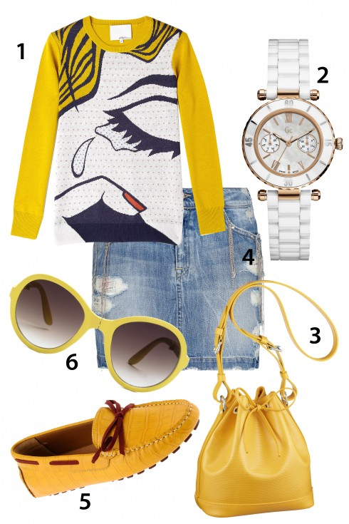 Thứ bảy: thêm sáng tạo với áo in phong cách popart. <br /> 1.3.1 PHILLI[P LIM 2.GC 3.LOUIS VUTTON 4.MANGO 5.PEDRO 6.MANGO