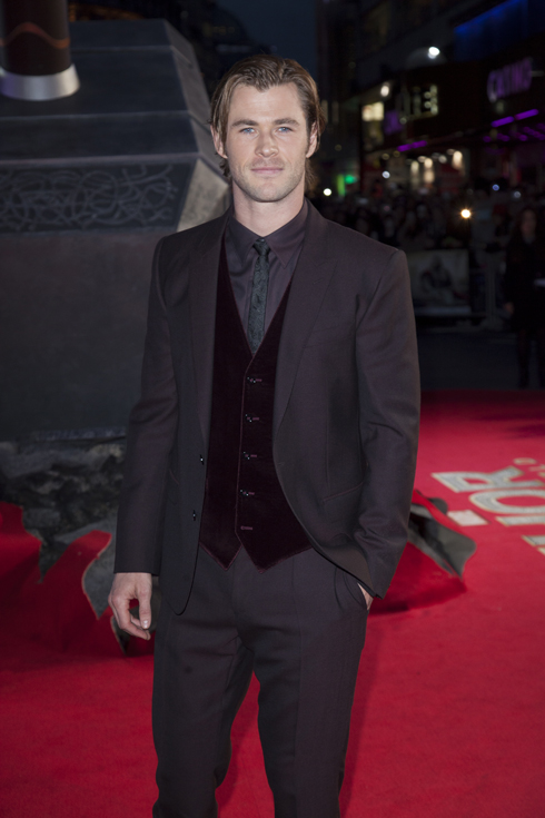 <br/>Actor Chris Hemsworth at the Global Premiere for
