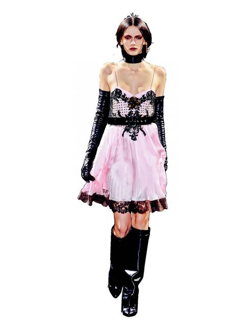 """U. Under Pinnings - Cô nàng ngổ ngáo<br/>Phong cách thời trang tough chic của các biểu tượng nữ quyền như Courtney Love hay Madonna đã đượcNTK Riccardo Tisci(Givenchy) đemlên sàn diễn. Thích hợp cho những cô gái muốn """"nổi loạn""""trong thời trang!"""
