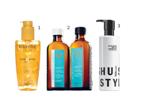 1. Tinh chất dưỡng tóc Kérastase 2. Dầu dưỡng tóc Light Moroccanoil 3. Dưỡng tóc dạng sữa Shu Uemura