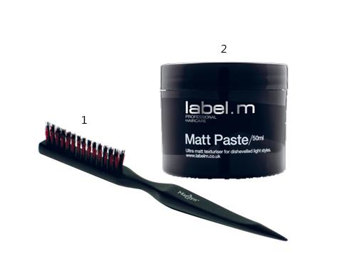 1. Lược Marilyn dùng để đánh rối tóc tạo độ phồng 2. Tạo kiểu tóc dạng lì Label.M