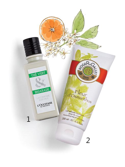 """SENSUAL STAR<br/>1.L'Occitane Thé Vert &amp; Bigarade Body Milk: Sản phẩm được lấy cảm hứng từ thành phố Grasse ở Provence, nơi được xem là """"thủ đô của những mùi hương"""". Hương thơm của trà xanh Nhật Bản hòa quyện với hương cam đặc trưng của vùng Địa Trung Hải và vị thanh mát của chanh. <br> 2.Roger&amp;Gallet Moisturizing fragrant body lotion: Sữa dưỡng ẩm cơ thể đem lại hương thơm ngọt ngào của hoa mộc tê và các loại trái cây. Kết cấu kem dạng lỏng giúp dưỡng ẩm, cho làn da mềm mịn và không gây nhờn rít."""