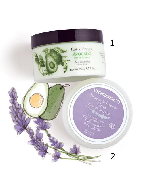 STYLISH STAR<br/>1.Crabtree &amp; Evelyn Avocado Skin Nourishing Body Butter: Kem dưỡng thể lấy cảm hứng từ những nguyên liệu thực vật của vùng Địa Trung Hải giàu vitamin. Thành phần trái bơ giàu khoáng chất; Bơ đậu mỡ và glycerine có tác dụng dưỡng ẩm và nuôi dưỡng làn da; Chiết xuất olive và húng quế cho da căng mịn.<br>  2.Durance Lavender Body Butter: Kem dưỡng da hữu cơ được chứng nhận bởi Ecocert không chứa Paraben và Phenoxyethanol. Tinh dầu oải hương mang đến cảm giác thư giãn, tinh dầu Olive giàu axit béo và các loại vitamin giúp nuôi dưỡng và làm mịn da.