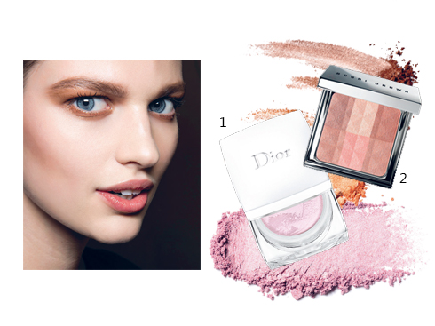 1.Phấn phủ Dior 2.Phấn phủ và highlight Bobbi Brown