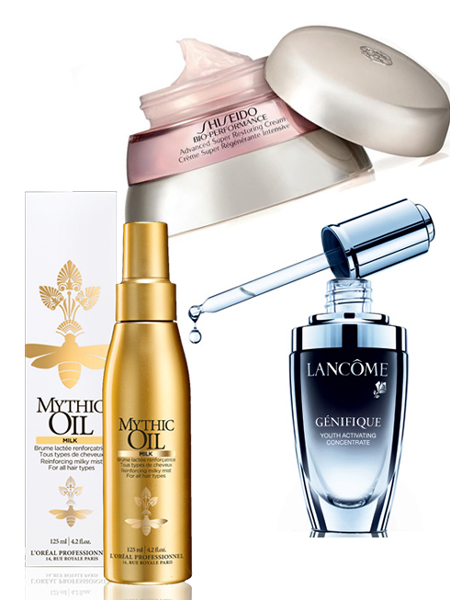 Sản phẩm gợi ý:1. Kem chống lão hóa Shiseido 3.190.000VNĐ2. Dầu dưỡng tóc Mythic Oil L'oreal Professionnel 440.000VNĐ3. Tinh chất Genifique Lancome 3.250.000VNĐ
