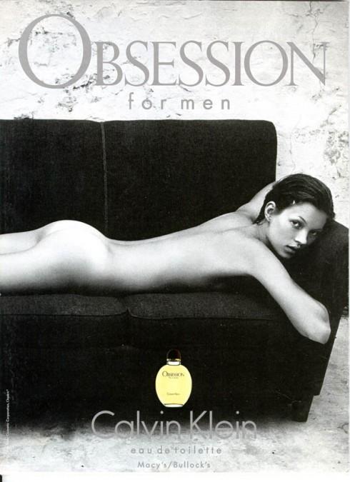 Siêu mẫu nước Anh khỏa thân trong quảng cáo nước hoa Obsession của Calvin Klein